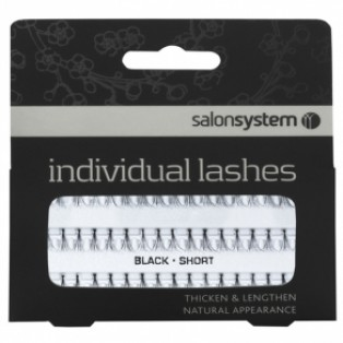 Salon System Individual Lashes Flare Black Short