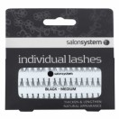 Salon System Individual Lashes Flare Black Med