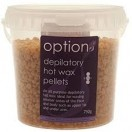 Options depilatory wax pellets